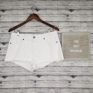 Asos White Cut Off Denim Shorts